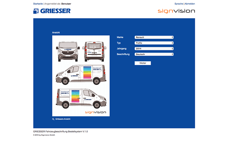 signvision.ch – Griesser Re-Design